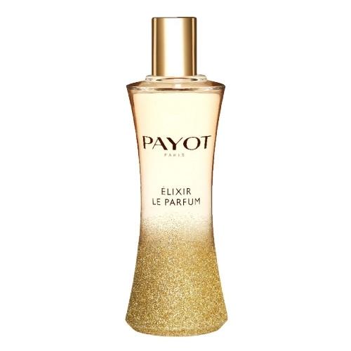 Flacon fermé et doré du parfum elixir