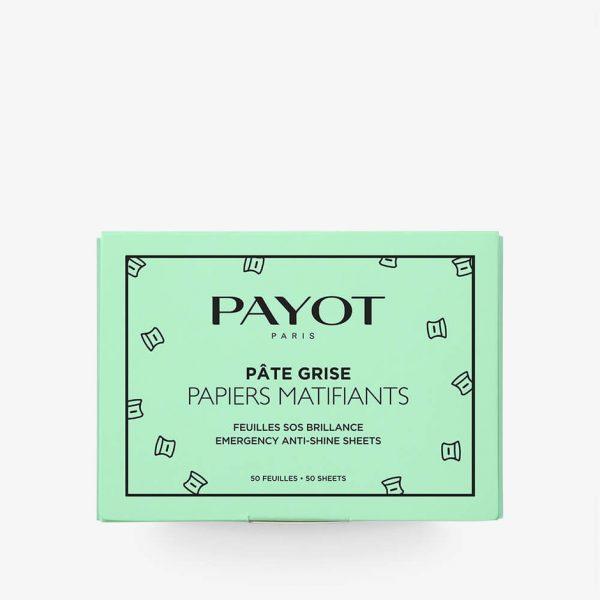 Packaging vert papiers matifiants payot