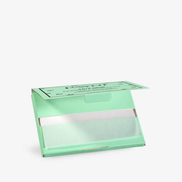 Boite papiers matifiants pate grise ouvert